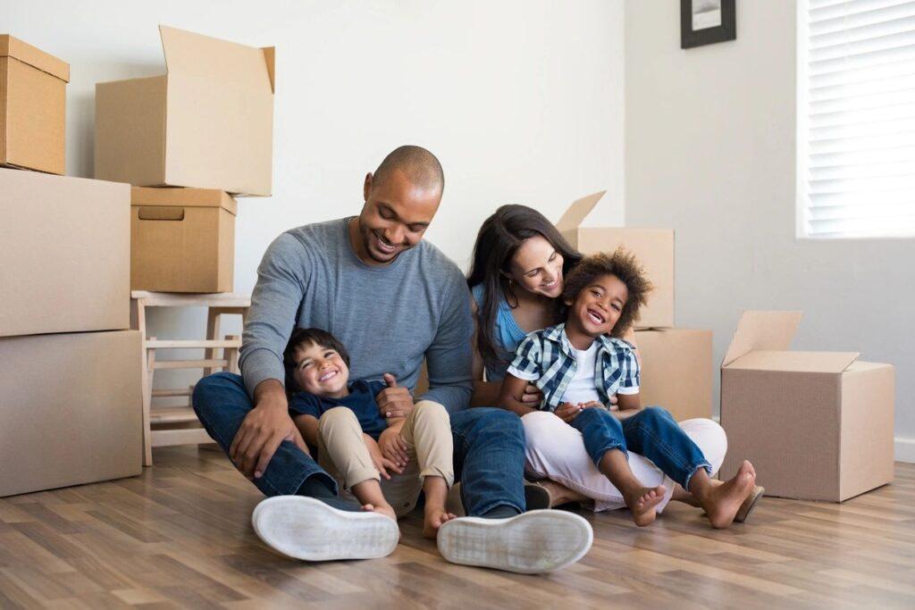 family enjoying a clean home